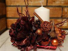ZĽAVA Bordové Vianoce - svietnik aranžmá