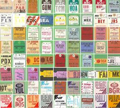 Vintage Inspiration – Airline Baggage Tag Collection | Blog | Stylesight