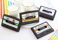 Make Your Valentine a Mixtape (Cookie) on Etsy