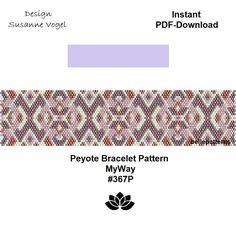 peyote bracelet pattern,PDF-Download, #367P,beading pattern,beading tutorials,pdf pattern,bracelet design,patterns,bellepatterns von bellepatterns auf Etsy