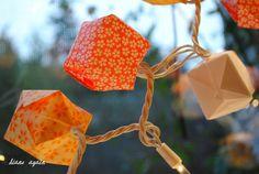 valentine origami box lighted garland 7.