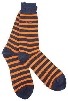 Stripy Socks   Gant Melange Striped Socks - Pure Orange   @ KJ Beckett - New Gant Socks Collection Available Online!