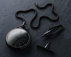 MARCH LA.B x Colette 1805 Imperial Phantom black PVD coated pocketwatch. $1422