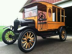 Vintage Car Models 1924 Ford Model T - Oak Body Delivery Wagon (vintage) - Antique Trucks, Vintage Trucks, Antique Cars, Ford Motor Company, Station Wagon, Classic Trucks, Classic Cars, Wooden Truck, Roadster