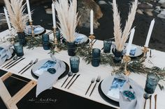 Moody blue reception set-up