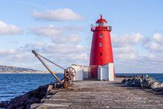 south bull wall poolbeg lighthouse - Google Search Golden Gate Bridge, All Over The World, Dublin, Ireland, Lighthouses, Wall, Outdoor Decor, Irish, Travel