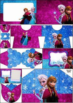Frozen Azul y Purpura: Invitaciones para Impimir Gratis. | Ideas y material gratis para fiestas y celebraciones Oh My Fiesta!