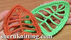 Crochet Leaf With Tall Stitches Tutorial 18