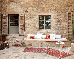 Another beauty from Spain! This 14th century farmhouse is located in the centre of Madremanya in the Girona region (Spain). The farmhouse has been completely restored. A great outdoor space.