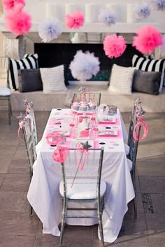Modern princess themed party: The princess party table