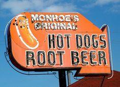 Monroe's Original Hot Dogs & Root Beer in Monroe, Michigan Monroe Michigan, Spring Arbor, Grass Lake, Coney Dog, The Mitten State, Lake Garden, Hot Dog Stand, Dog Shop, Metro Detroit