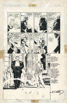 """Dark Knight Returns"" original page, pencil by Frank Miller and ink by Klaus Janson"