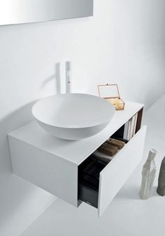 QUATTRO.ZERO Lacquered vanity unit by FALPER