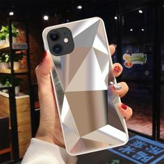 diamond mirror back cover for iphone 11 Pro Case for iphone X XR XS Max 8 7 6 Plus case For iPhone 11 Pro Max inch - For iPhone 8 Plus Silve Best Iphone, Free Iphone, Iphone 11 Pro Case, Iphone Phone Cases, Iphone 8 Plus, Apple Iphone, Diamond 3d, Telephone Iphone, Phone Cases