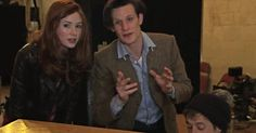 """In need of a strong dose of holiday spirit? Our favorite-ever trio from Doctor Who is here to spread some seasonal cheer! Sing along as Matt Smith, Karen Gillan, and Arthur Darvill lead a rendition of """"Have Yourself a Merry Little Christmas."""""""