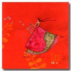 CARTES D'ART > BOISSONNARD Gaëlle > CARTES SIMPLES 14x14cm > BOISSONNARD Carte 223 - e-mages - La carterie d art