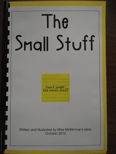 """Forever in First: Classroom management. The Small Stuff. A class book about not """"sweating the small stuff"""". Teacher Tools, Teacher Hacks, Teacher Stuff, Behaviour Management, Classroom Management, Elementary School Counseling, Teachers Corner, First Year Teachers, School Librarian"""