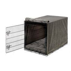 Bowsers Luxury Crate Cover - Pewter Bones