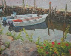 """""""Gardner's Wharf,"""" Jonathan Small, 2016, oil on linen mounted on panel, 8 x 10"""", collection of the artist."""