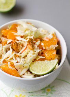 Almond Lime Mandarin Cole Slaw Salad
