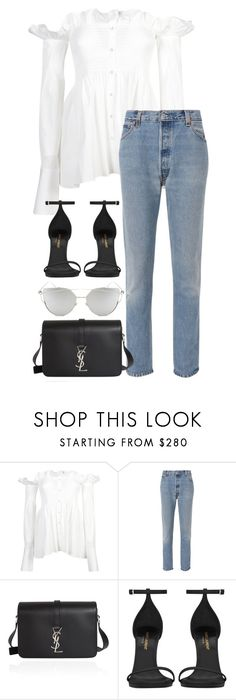 """""""Untitled #3054"""" by elenaday on Polyvore featuring Victoria Beckham, RE/DONE, Yves Saint Laurent and Chicnova Fashion"""