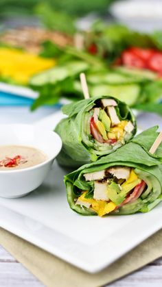 These enormous leaves are stronger than lettuce and can hold even the bulkiest ingredients. Roll up tons of fruits, veggies and protein, then sink everything into thick-and-creamy Asian-inspired dressing for even more flavor and a nutritious, gourmet-style meal in mere minutes. Get the recipe at thehealthyfoodie.com. Courtesy of The Healthy Foodie  - Redbook.com
