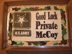 boot camp going away cakes | away cake camo cake for my co workers son who is going to boot camp ...