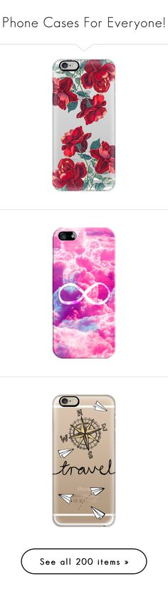 """""""Phone Cases For Everyone!"""" by cammms ❤ liked on Polyvore featuring accessories, tech accessories, phone cases, phones, cases, electronics, iphone cases, transparent iphone case, iphone case and apple iphone cases"""