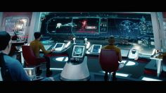 This is the Graphic User Interface to the JJ Abrams Star Trek films. The ship's design has become controversial among the hardcore fan base. Spaceship Interior, Spaceship Design, Star Trek Starships, Star Trek Enterprise, Star Trek Bridge, Trek Deck, Star Trek 2009, Starfleet Ships, Sci Fi Spaceships