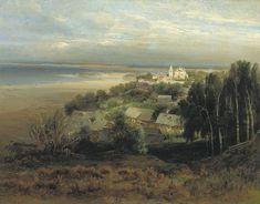 The Monastery of the Caves Near Nizhny Novgorod, 1871, Aleksey Savrasov