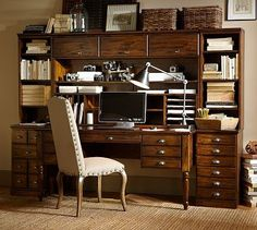 love this rich looking wood and all the little drawers
