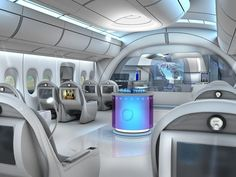 Interior Design and Aircraft Lighting Luxury Jets, Luxury Private Jets, Private Plane, Spaceship Interior, Futuristic Interior, Futuristic Architecture, Airplane Interior, Airplane Design, Private Jet Interior