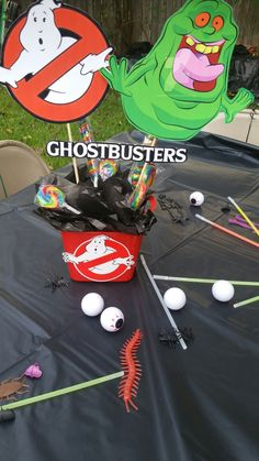 Ghostbusters center piece & table decor