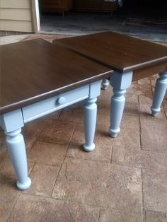 Refinished end tables For the Home Pinterest