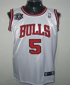 Only 20.50USD Bulls 5 Carlos Boozer White With 20TH Embroidered NBA Jersey!  Only 20.50USD Chicago ... df6706f2f