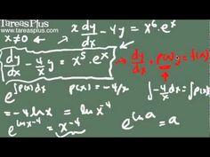 Ecuación lineal de primer orden (ejemplo 1)