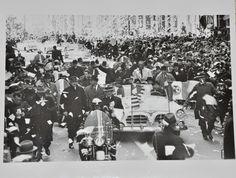 "Original 1962 8"" x 10"" Photograph of Astronaut John Glenn's Ticker Tape Parade in New York with President Lyndon B. Johnson"