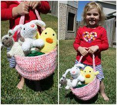 Huckleberry Love: Crochet Easter Trio w/ Basket