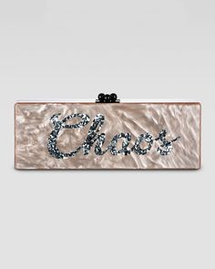Edie Parker Flavia Personalized Clutch