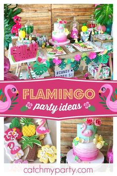 Don't miss this gorgeous tropical Flamingo birthday party! The birthday cake is . Don't miss this gorgeous tropical Flamingo birthday party! The birthday cake is amazing! Pink Flamingo Party, Flamingo Birthday, Luau Birthday, 3rd Birthday Parties, Birthday Cake, Birthday Ideas, Lollipop Party, Aloha Party, Luau Party