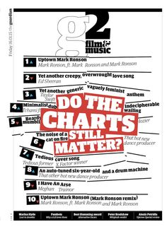 Guardian g2 film&music cover: Do the charts still matter?