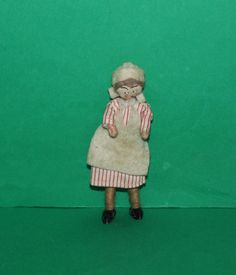 Vintage Dolls House Grecon Melon Foot Maid Doll by kittymacminis