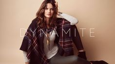 Dynamite Fall 2015 - Behind the scene Bodycon Tops, Knitted Poncho, Floral Blouse, Fall 2015, Adidas Jacket, Behind The Scenes, Denim, Household, Jackets