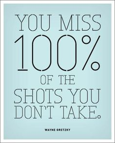 Niet geschoten is altijd mis
