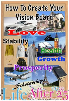 Learn How To Make Your Vision Board! Join Us For Our #YLA25VisionBoard Twitter Party