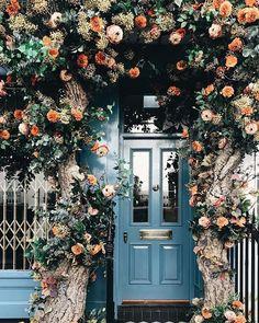#porta #flores