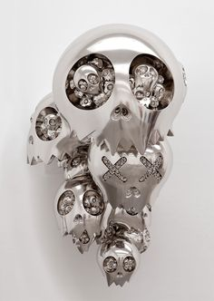 """""""Fate"""", Sculpture - Takashi Murakami is an internationally prolific contemporary Japanese artist. He works in fine arts media—such as painting and sculpture—as well as what is conventionally considered commercial media —fashion, merchandise, and animation— and is known for blurring the line between high and low arts."""