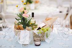 picnic centerpiece for a summer wedding