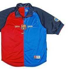 """3f15781f2 Football Shirt Collective on Instagram  """"Who does the 1999 x Nike Barcelona  shirt remind you of  Link in bio 🛒"""""""