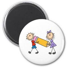 Stick Kids With Pencil Magnets